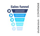 sales funnel with steps stages... | Shutterstock .eps vector #1154396068