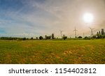 landscape wind turbine field at ... | Shutterstock . vector #1154402812