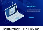 login into account and fishing... | Shutterstock .eps vector #1154407105