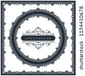 decorative circle frame in... | Shutterstock .eps vector #1154410678