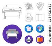 printer  credit card  color... | Shutterstock .eps vector #1154421652