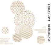 japanese template vector. gold... | Shutterstock .eps vector #1154424895
