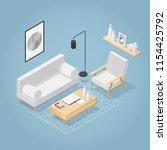 vector isometric living room in ... | Shutterstock .eps vector #1154425792