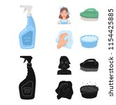 a cleaning woman  a housewife... | Shutterstock .eps vector #1154425885