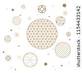 circle pattern vector. gold... | Shutterstock .eps vector #1154433142