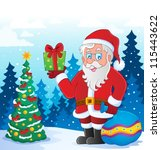 santa claus thematic image 5  ... | Shutterstock .eps vector #115443622