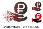 vector rouble coin payment icon ...   Shutterstock .eps vector #1154438332