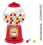 gumball machine | Shutterstock .eps vector #115444192