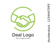 deal people logo template... | Shutterstock .eps vector #1154447095