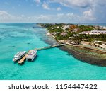 an aerial view of isla mujeres... | Shutterstock . vector #1154447422