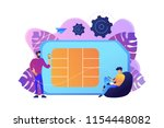 mobile sim phone card and users ... | Shutterstock .eps vector #1154448082