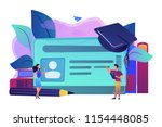 school smart card with photo... | Shutterstock .eps vector #1154448085