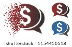 vector financial chat icon in...   Shutterstock .eps vector #1154450518
