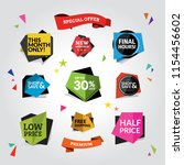 colorful web and promotional... | Shutterstock .eps vector #1154456602