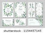 eucalyptus design. wedding... | Shutterstock .eps vector #1154457145