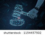 internet law concept with 3d... | Shutterstock . vector #1154457502