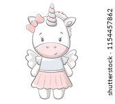 pony cute print. sweet baby... | Shutterstock .eps vector #1154457862