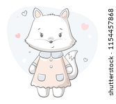 Fox Cute Print. Sweet Baby Girl ...