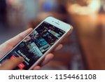 bangkok  thailand   august 13 ... | Shutterstock . vector #1154461108