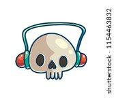 skull with headphones. love... | Shutterstock .eps vector #1154463832