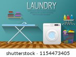 laundry service banner with... | Shutterstock .eps vector #1154473405