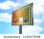 billboard advertisement poster... | Shutterstock .eps vector #1154473558