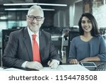 portrait of cheerful senior...   Shutterstock . vector #1154478508