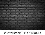 black brick wall background... | Shutterstock . vector #1154480815