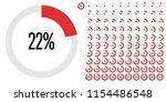 set of circle percentage... | Shutterstock .eps vector #1154486548