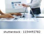 asian business adviser meeting...   Shutterstock . vector #1154492782