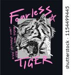 typography slogan with tiger... | Shutterstock .eps vector #1154499445
