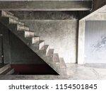 stairway  style  bare cement in ... | Shutterstock . vector #1154501845