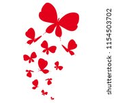 beautiful red butterflies ... | Shutterstock .eps vector #1154503702