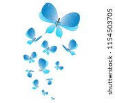 beautiful butterflies  blue... | Shutterstock .eps vector #1154503705