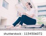 portrait of serious attractive...   Shutterstock . vector #1154506072