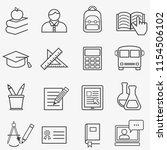 back to school and education... | Shutterstock .eps vector #1154506102