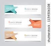 vector abstract web banner...   Shutterstock .eps vector #1154506108