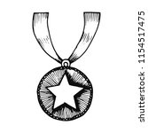 medal with a star object....   Shutterstock .eps vector #1154517475