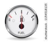 fuel gauge. half tanked. round... | Shutterstock .eps vector #1154518135