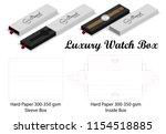 luxury watch sleeve box mockup...   Shutterstock .eps vector #1154518885
