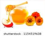 vector honey  apple  flower.... | Shutterstock .eps vector #1154519638