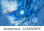 3d rendering of abstract... | Shutterstock . vector #1154525875