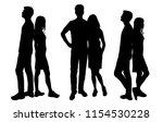 vector silhouettes men and... | Shutterstock .eps vector #1154530228