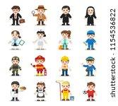 kid set of different... | Shutterstock .eps vector #1154536822
