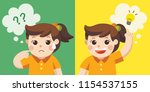 learning and growing children.... | Shutterstock .eps vector #1154537155
