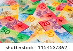 collection of the new swiss... | Shutterstock . vector #1154537362