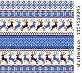 nordic pattern illustration. i...   Shutterstock .eps vector #1154539345