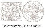 a set of contour illustrations...   Shutterstock .eps vector #1154540908