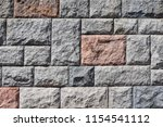 fragment of a stone wall in a... | Shutterstock . vector #1154541112