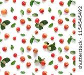 seamless pattern of fresh red ... | Shutterstock . vector #1154545492